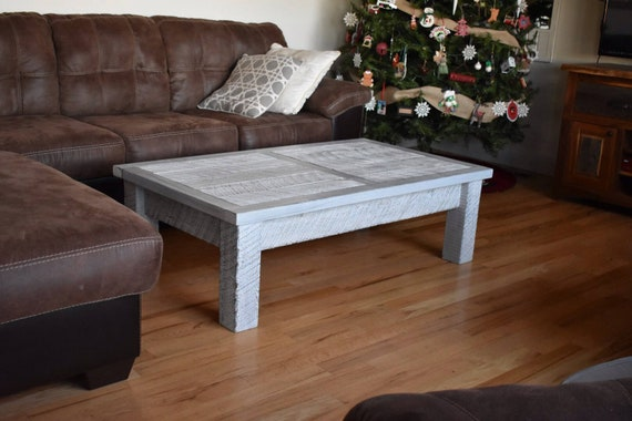 White Farmhouse Coffee Table Long Coffee Table White Etsy