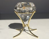 Bleikristall, Diamond Shaped Tea Candle Holder Paperweight. Made in Germany