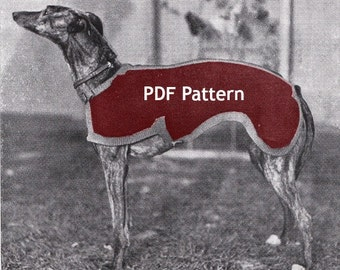 Greyhound Dog Sweater, Coat/Jacket, Vintage 1934 Knit Pattern, PDF Instant, Digital Download