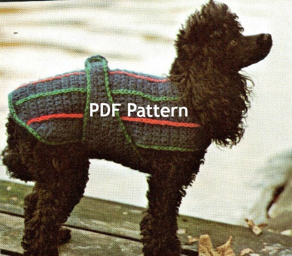 Vintage Knitting Pattern To Make Knitted Dog Sweater Smmed Pup
