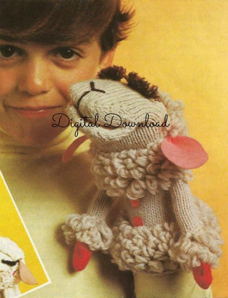 2 Lamb Chop Puppet Patterns Includes Knit and Crochet | Etsy