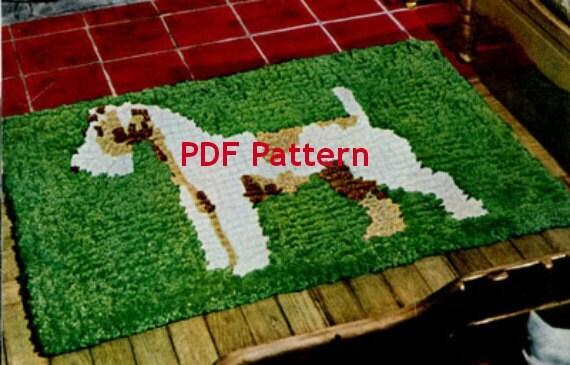 Crochet Patterns WIRE FOX TERRIER afghan pattern