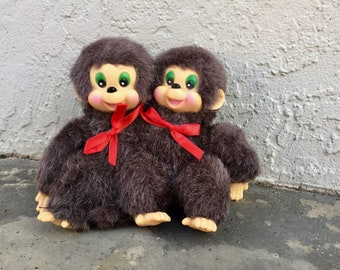 Handmade Conjoined Monkees Circus Freak Toy One Of A Kind