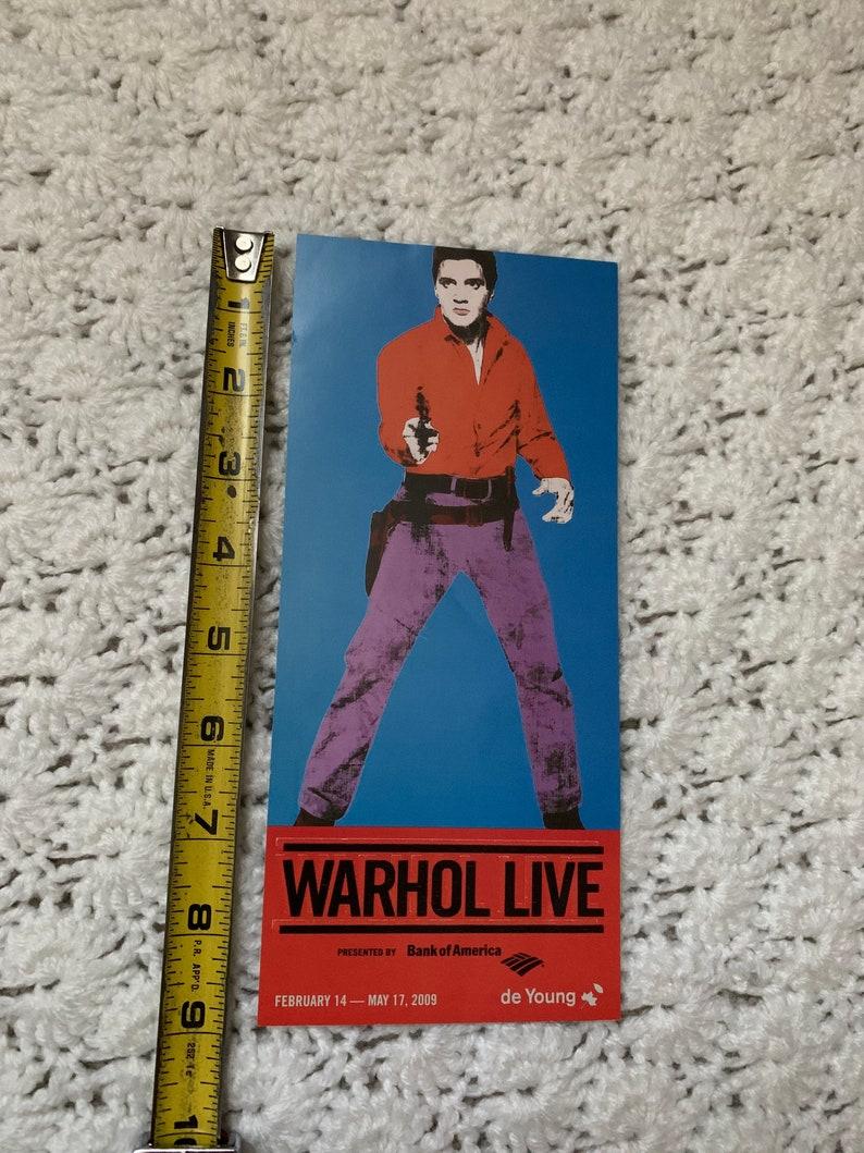 Warhol Live San Francisco De Young Museum Advertisement Flyer