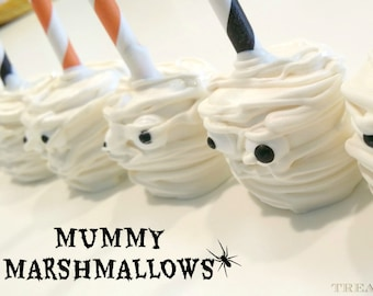 HALLOWEEN chocolate covered marshmallows