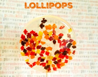 Autumn Leaves Lollipops. autumn lollipops. fall lollipops. fall treats. autumn treat. fall ya'll. halloween treats. fall party decor. leaves