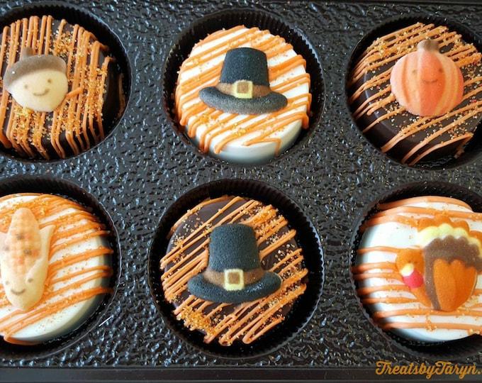 Featured listing image: Chocolate covered Thanksgiving Oreo gift set. Thanksgiving oreos. Autumn oreos. Thanksgiving treats. Turkey treats. Turkey oreos. Turkey