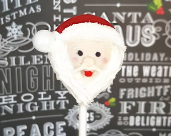 Santa cake pops. Stocking treats. Christmas treat. Christmas cake pop. Christmas party decor. Tree pop. Snow globe. Gingerbread