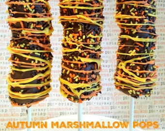 AUTUMN chocolate covered marshmallows