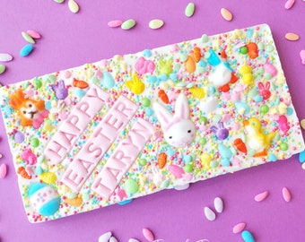 Easter personalized chocolate bar. Easter bar. easter treats. easter basket stuffers. easter gifts. custom easter bar.