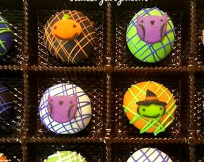 Featured listing image: Halloween cake ball gift set. Halloween cake pops. Halloween treats. Cake balls. Halloween sweets. Halloween gifts. Cake balls. cake pops