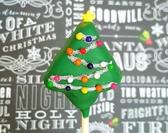 CHRISTMAS TREE cake pops. Christmas cake pops. Stocking treats. Christmas treats. Christmas cake pops. Christmas party decor. Tree pops.