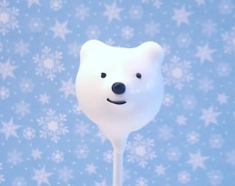 Polar bear cake pops. Stocking treats. Christmas treats. Christmas cake pop. Christmas party decor. Tree pop. Snow globe. Gingerbread