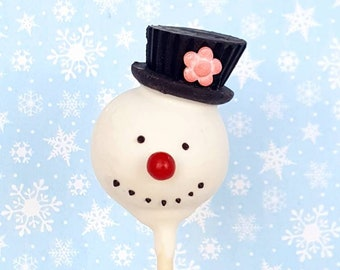 Frosty the snowman cake pops. Stocking treats. Christmas treat. Christmas cake pop. Christmas party decor. Tree pop. Snow globe. Gingerbread