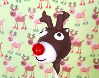 Reindeer cake pops. Stocking treats. Christmas treat. Christmas cake pop. Christmas party decor. Tree pop. Snow globe. Reindeer cake pops