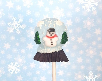 Snow globe cake pops. Stocking treats. Christmas treat. Christmas cake pop. Christmas party decor. Tree pop. Snow globe. Gingerbread