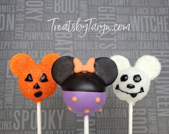 Mickey Halloween cake pops. Mickey cake pop. halloween. Halloween cake pop. Mickeys not so scary Halloween. Minnie cake pops