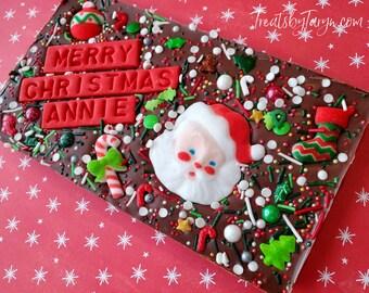 Christmas personalized chocolate bar. Christmas bar. Christmas treats. Christmas stocking stuffers. Christmas gifts. custom Christmas bar.