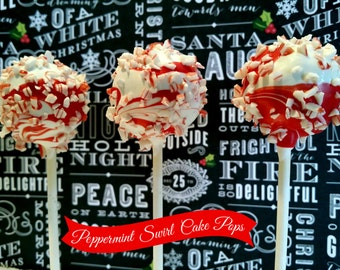 PEPPERMINT SWIRL cake pops
