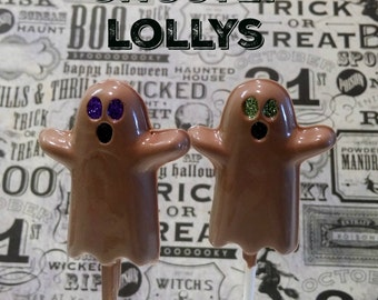 GHOSTLY chocolate lollipops