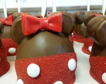 MINNIE Caramel Apples