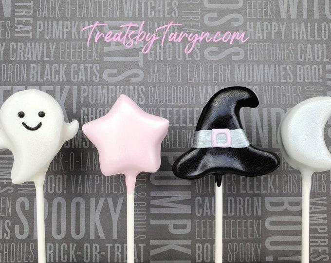 Featured listing image: Pastel Halloween cake pops. Halloween pastel cake pop. MODERN halloween. Halloween cake pop. Halloween treat. Pastel Halloween goodies.