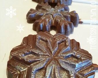 Milk Chocolate SNOWFLAKE Lollipops