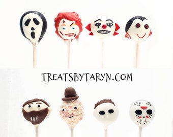 Halloween killer variety cake pops. Halloween cake pop. halloween. Halloween cake pop. Halloween treat. Halloween goodies. Halloween party.