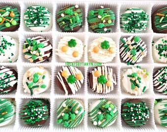 Mini St Patrick's daychocolate covered Oreo gift set. St patrick's oreos. St patrick's day treats. St patrick's gifts. Irish favors.