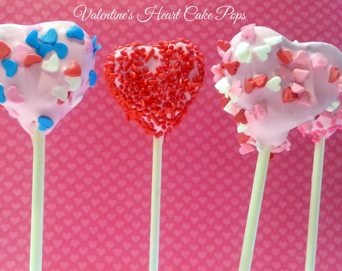 Featured listing image: Valentine's Day HEART cake pops