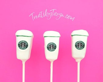 Coffee lover cake pop set. Coffee cake pops. Coffee treats. Coffee lover bday