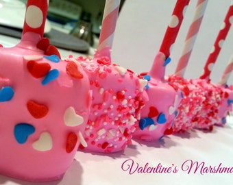 Valentine's Chocolate Covered Marshmallows