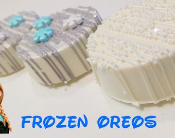 FROZEN inspired oreos