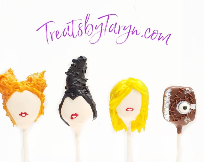 Featured listing image: Hocus Pocus variety cake pops. Halloween cat cake pop. halloween. Halloween cake pop. Halloween treat. Halloween goodies. Halloween party.