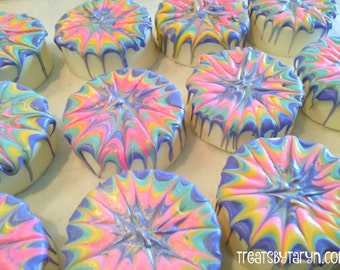 Tye Dye inspired oreos