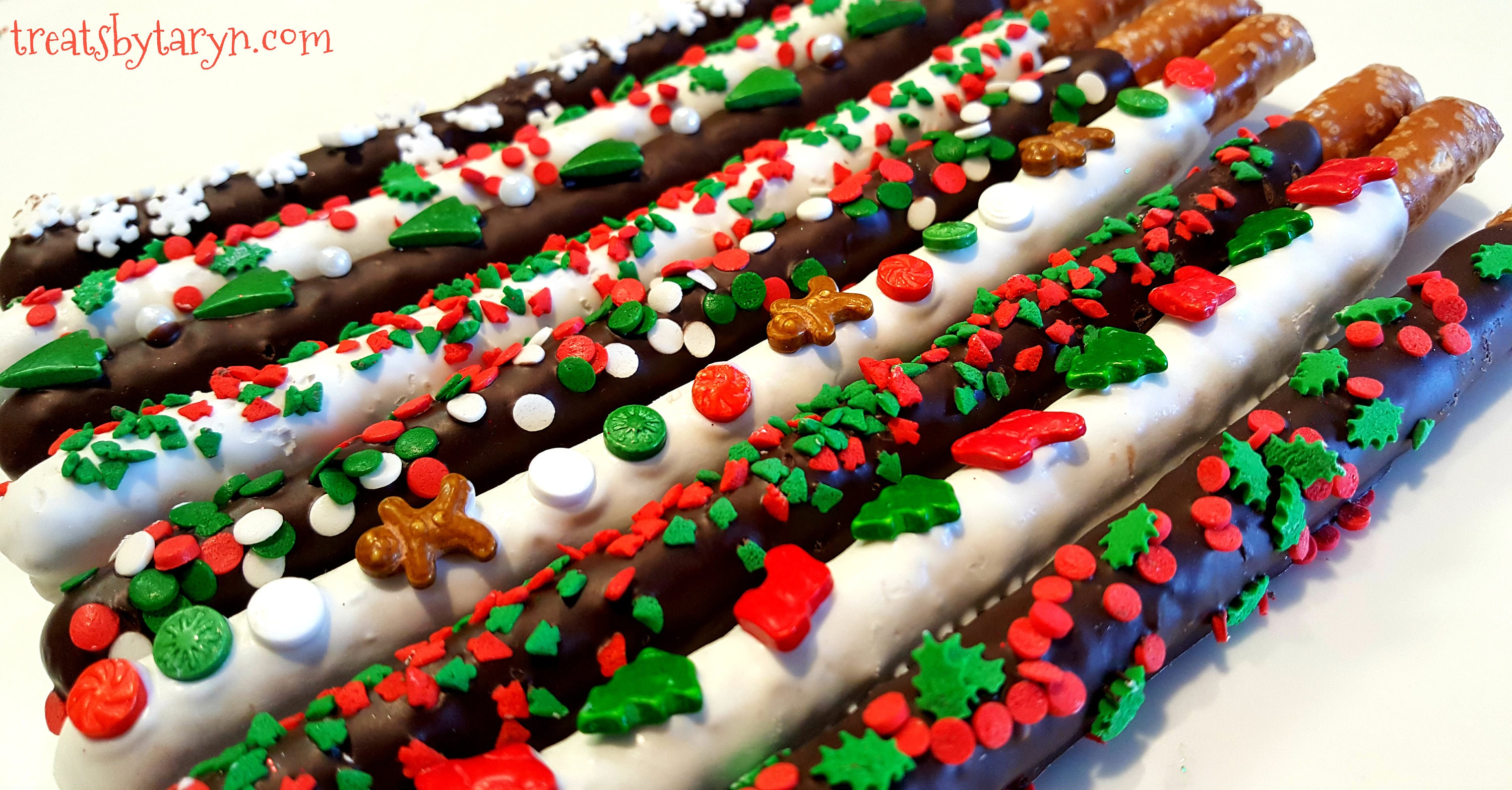 zoom - Christmas Chocolate Covered Pretzels