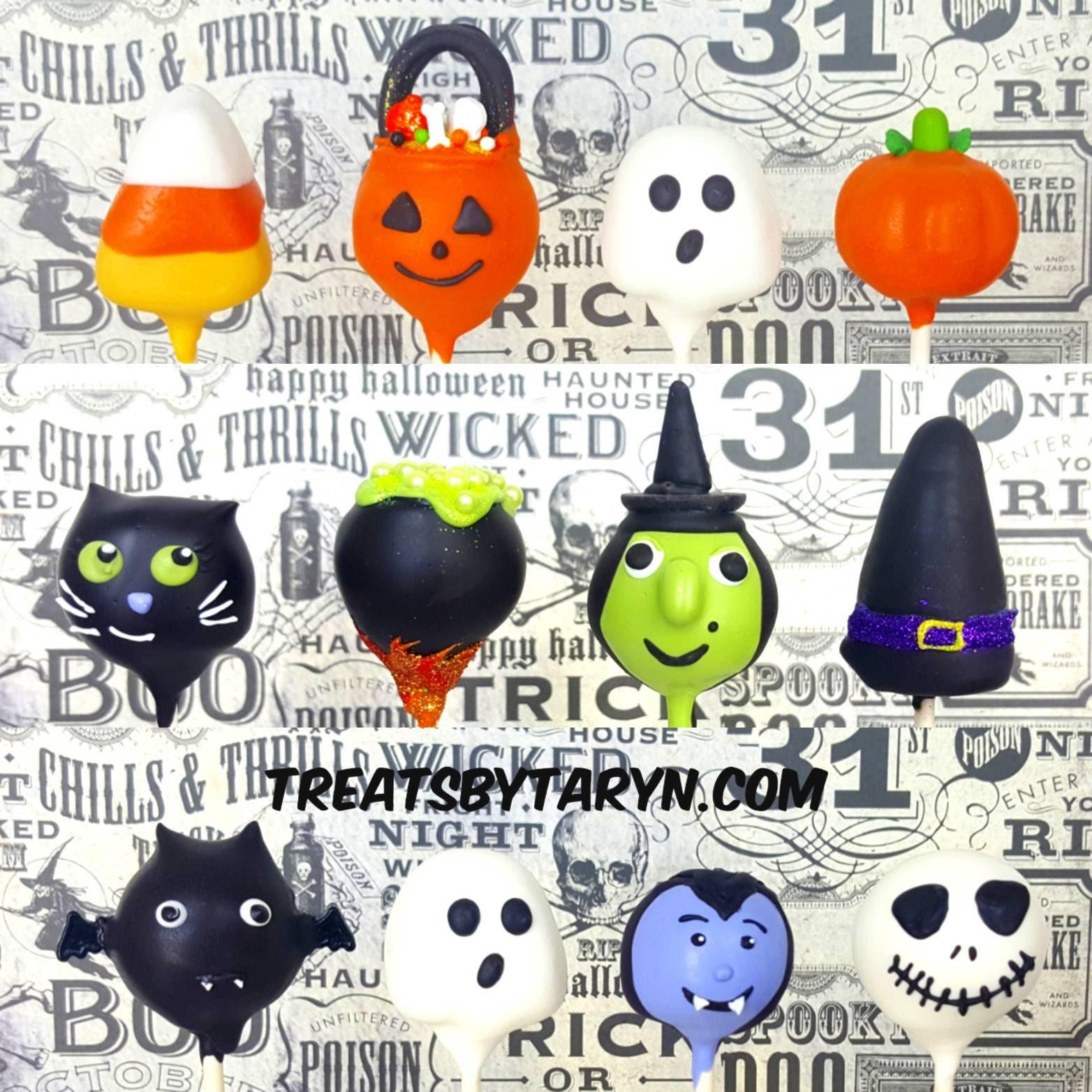 halloween variety cake pops. halloween cat cake pop. halloween