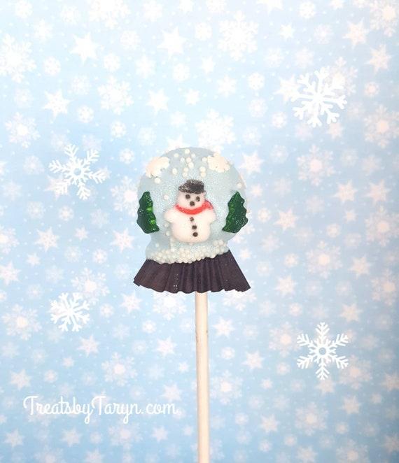 Christmas Cake Pops.Snow Globe Cake Pops Stocking Treats Christmas Treat Christmas Cake Pop Christmas Party Decor Tree Pop Snow Globe Gingerbread
