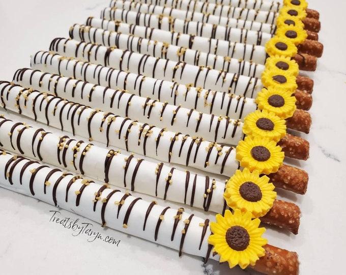 Chocolate Covered Pretzels. Sunflower pretzels. pretzels. baby spritz pretzel rods. Sunflower rods. Sunflower pretzels. Sunflower treat