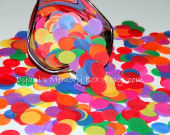 "1500 Rainbow Hand-Cut 1"" Tissue tossing Confetti for Weddings/Flower Girl Photo Prop Graduation"