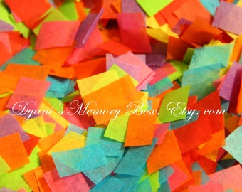 Fiesta Cinco de Mayo Hand Cut Tissue Confetti - Tossing Confetti for Weddings / Flower Girl / Photo Prop / Graduation