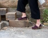Swedish Clogs/Mid Heel Clogs/ Classic Clogs/Shoes/Clogs/Womens shoes/ Leather Shoes/ Women's Clogs/ High Heel Shoes/Comfortable shoes /Brett