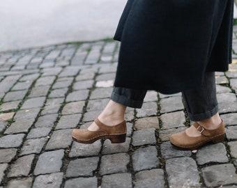 6253ca29057 Mary Jane Swedish Clogs  Clogs for women Low Heel clogs  Strap Shoes Leather  shoes  Women Shoes  comfortable shoes  shoes  Sandgrens Clogs