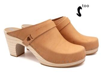 Schwedische High Sandaletten Leder Clogs Heel SandalenEtsy XZkiOPu