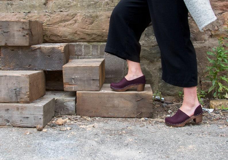 7290717e23e0f Swedish Clogs/Mid Heel Clogs/ Classic Clogs/Shoes/Clogs/Womens shoes/  Leather Shoes/ Women's Clogs/ High Heel Shoes/Comfortable shoes /Brett