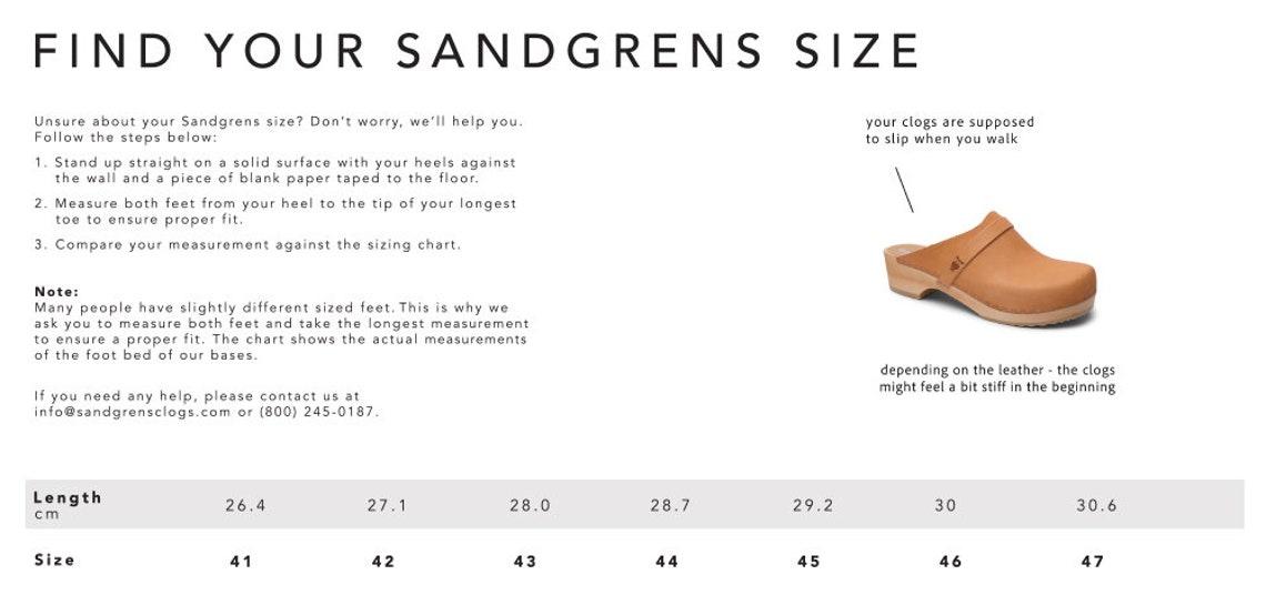 sandgrens clogs sale