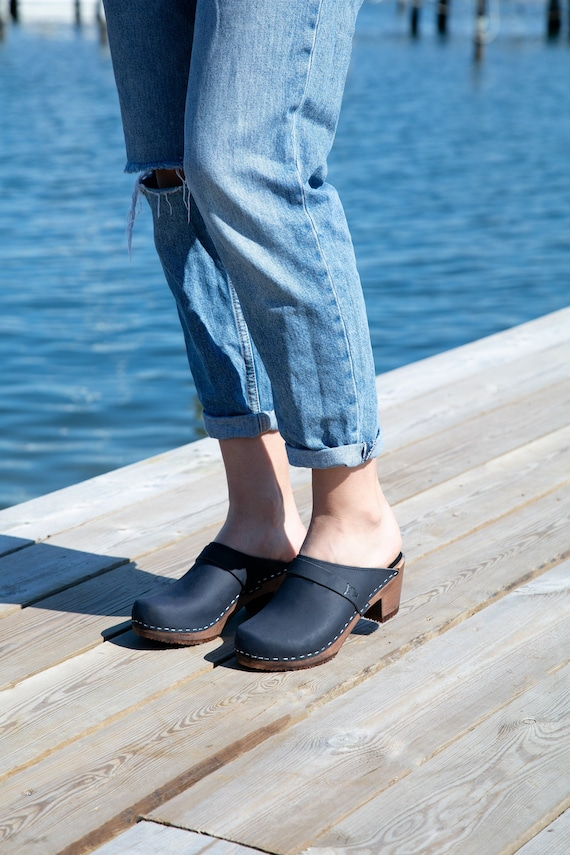 Swedish Clogs | Classic Clogs |Wooden Clogs| Shoes for women | Women's Clogs | Swedish Sandals | Mules | high heeled Shoes| Dublin