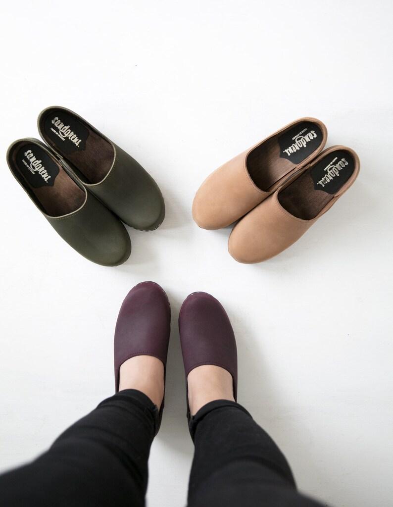 01eb7b5d3a01f Swedish Clogs/Mid Heel Clogs/ Classic Clogs/Shoes/Clogs/Womens shoes/  Leather Shoes/Women's Clogs/ High Heel Shoes/Comfortable shoes/Bridget