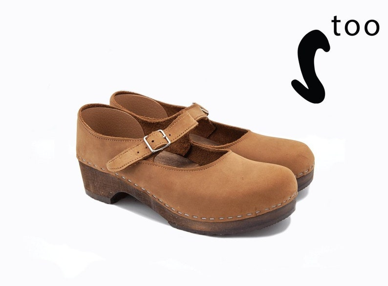 0b71b61f6ba Mary Jane/Swedish Clogs/ Clogs for women/Low Heel clogs/ Strap | Etsy