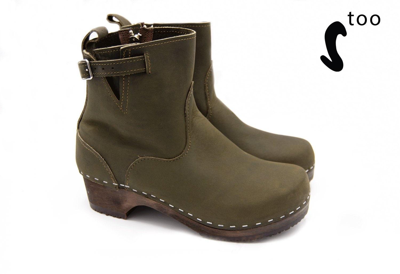 a533f661e274 Sandgrens TOO  Leather Boots  Clogs Clog Boots Swedish